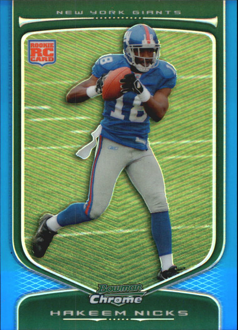 2009 Bowman Chrome Blue Refractors #124 Hakeem Nicks