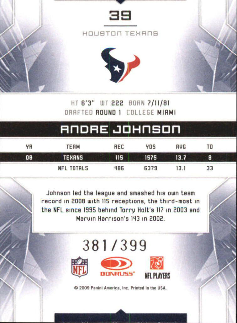 2009 Limited #39 Andre Johnson