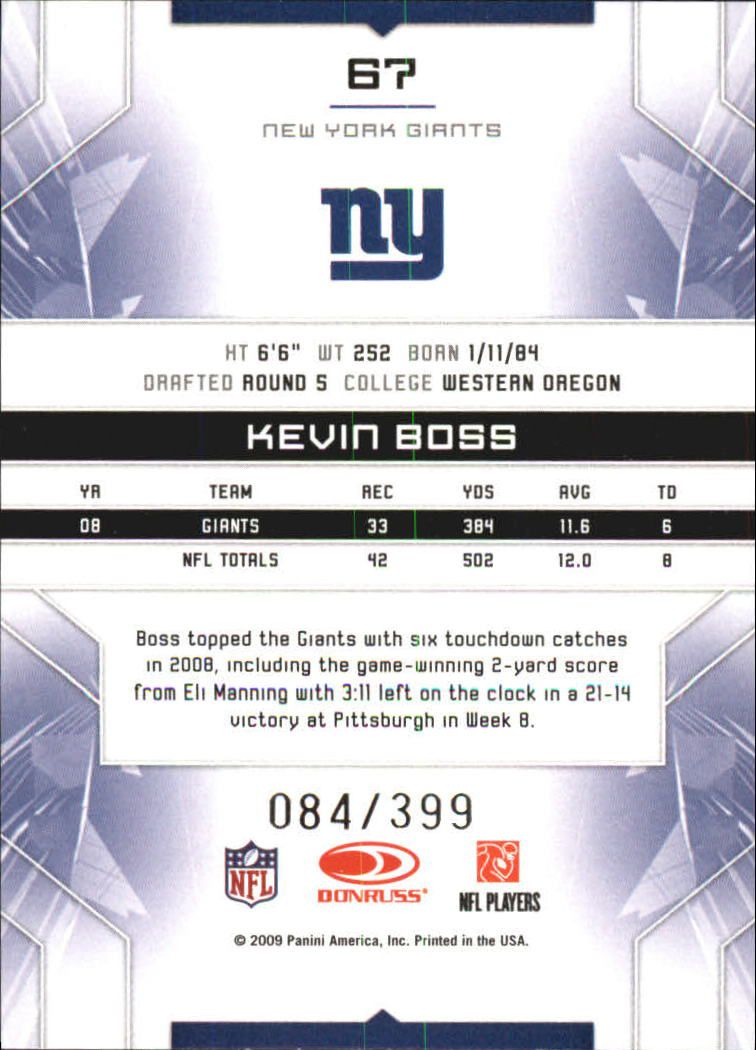 2009 Limited #67 Kevin Boss