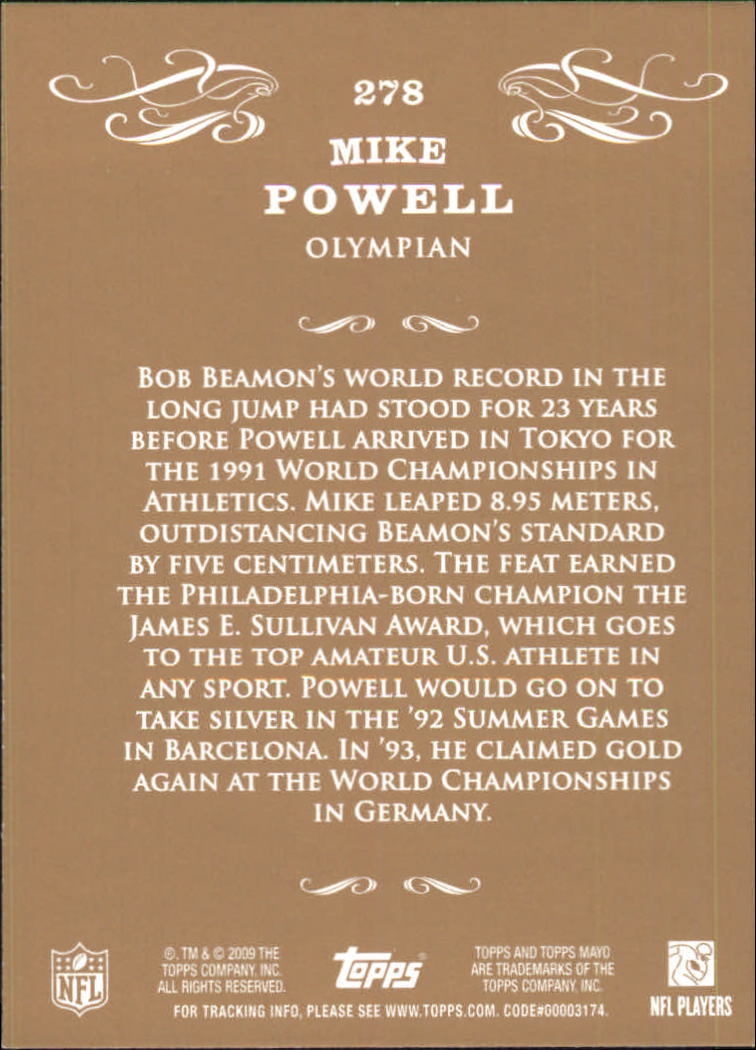 2009 Topps Mayo #278 Mike Powell track back image