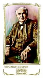 2009 Topps Mayo World's Fair Attractions #WF6 Thomas Edison inventor