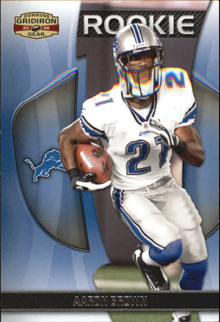 2009 Donruss Gridiron Gear #101 Aaron Brown RC