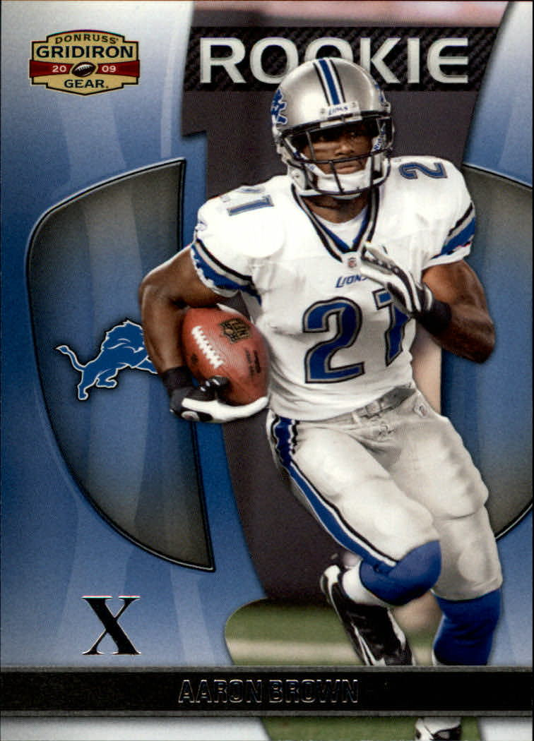 2009 Donruss Gridiron Gear Silver X's #101 Aaron Brown