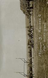 "1913 Missouri Postcards #2 Missouri 3, Kansas 0/(""Mc"" kicks goal)"