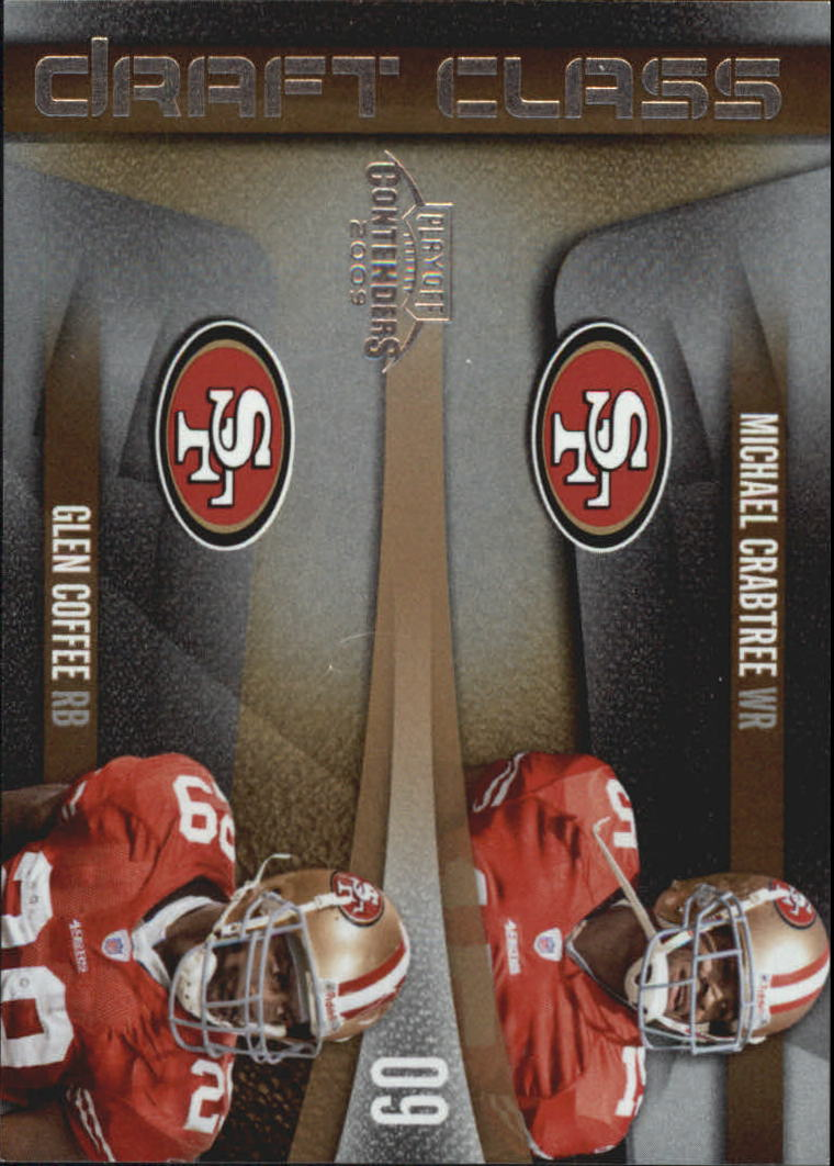 2009 Playoff Contenders Draft Class #20 Michael Crabtree/Glen Coffee