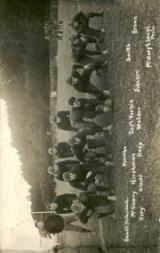 1909 Penn State Postcards #3 Team in Offensive Formation
