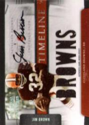 2009 Playoff National Treasures Timeline Materials Signature Team Name #5 Jim Brown/25