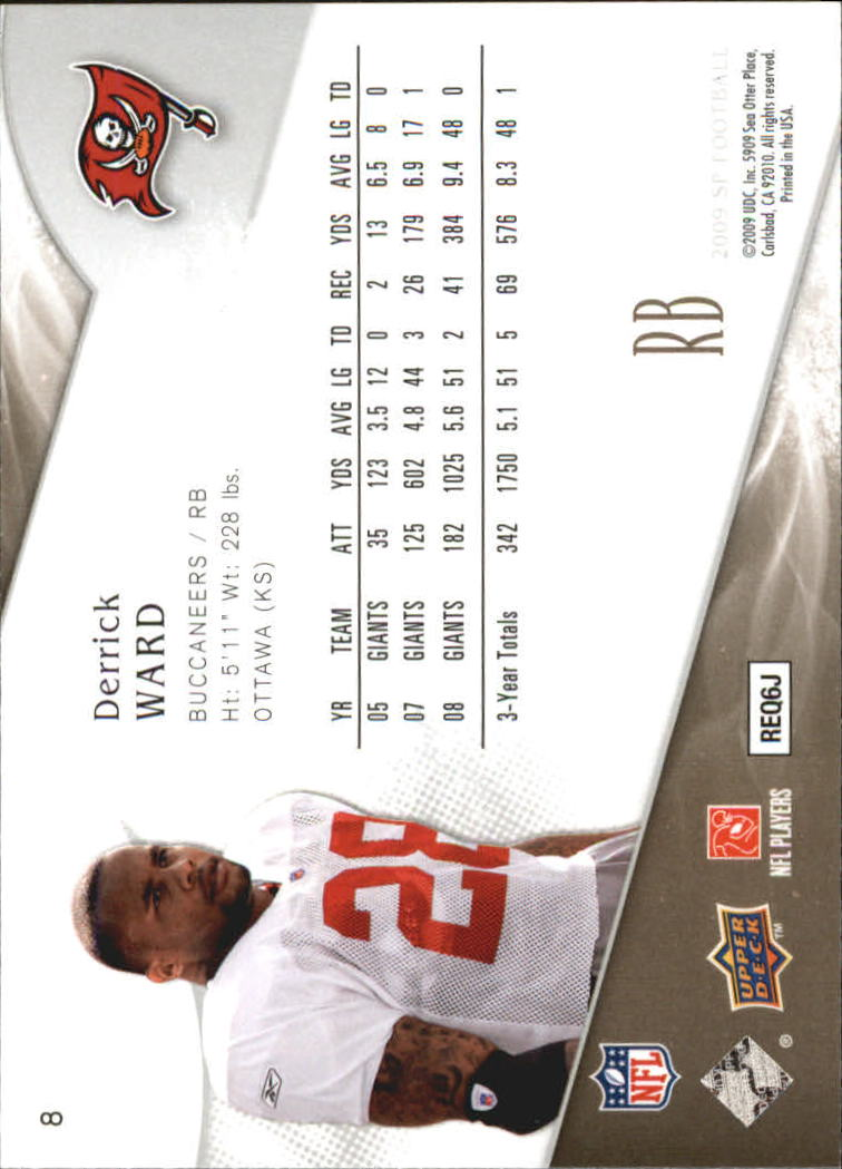2009 SP Authentic Retail #8 Derrick Ward back image