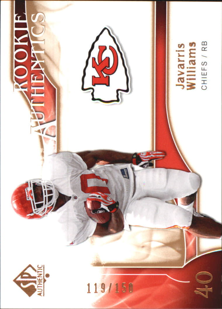 2009 SP Authentic Bronze #259 Javarris Williams