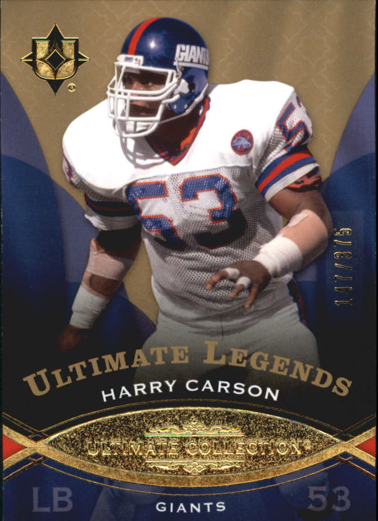 2009 Ultimate Collection #122 Harry Carson