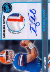 2010 Press Pass PE Game Day Gear Jerseys Autographs #GDGTT Tim Tebow