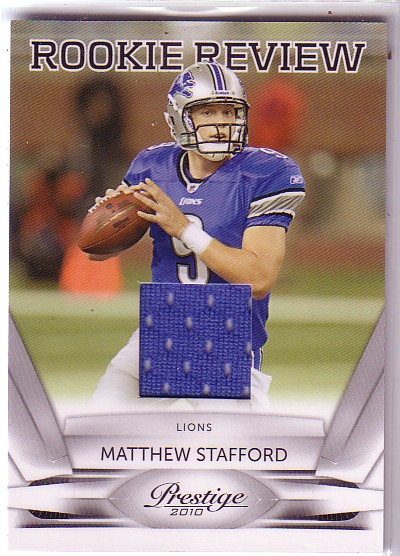 2010 Prestige Rookie Review Materials #2 Matthew Stafford DP