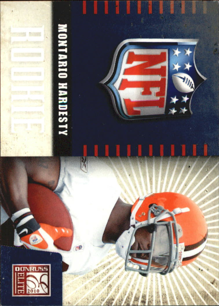 2010 Donruss Elite Rookie NFL Shield #27 Montario Hardesty