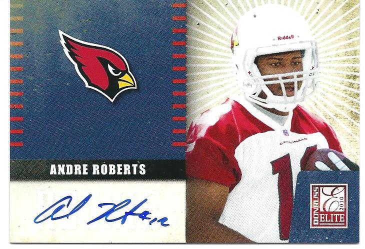 2010 Donruss Elite Rookie NFL Team Logo Autographs #1 Andre Roberts