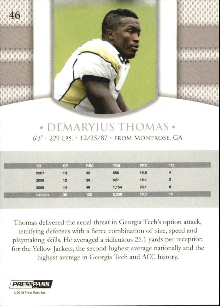 2010 Press Pass PE Blue #46 Demaryius Thomas