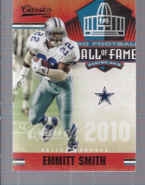 2010 Classics Hall of Fame #1 Emmitt Smith