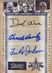 2010 Classics Cowboys 50th Anniversary Autographs Triples #1 DeMarcus Ware/Chuck Howley/Lee Roy Jordan