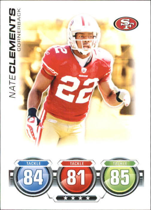 2010 Topps Attax #41 Nate Clements