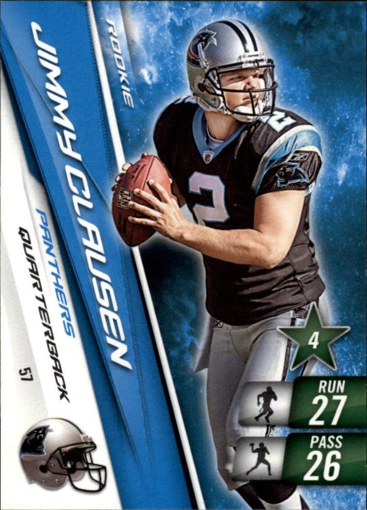 2010 Adrenalyn XL #57 Jimmy Clausen RC