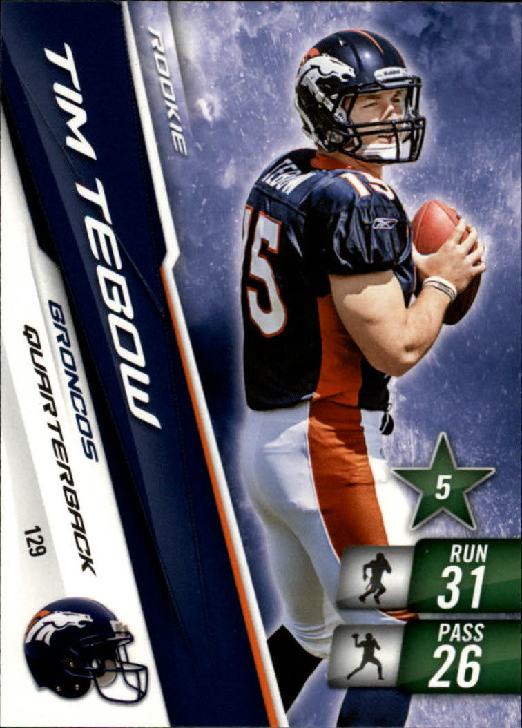 2010 Adrenalyn XL #129 Tim Tebow RC