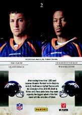 2010 Rookies and Stars Studio Rookies Combos #2 Tim Tebow/Demaryius Thomas back image