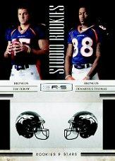 2010 Rookies and Stars Studio Rookies Combos #2 Tim Tebow/Demaryius Thomas