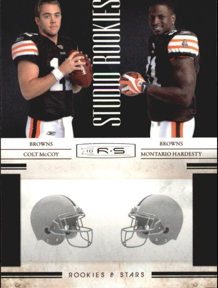 2010 Rookies and Stars Studio Rookies Combos #4 Colt McCoy/Montario Hardesty