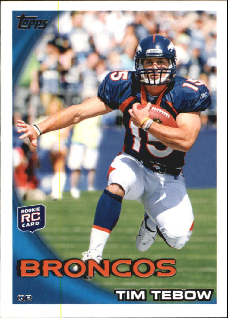 2010 Topps #440A Tim Tebow RC/Leaping pose)