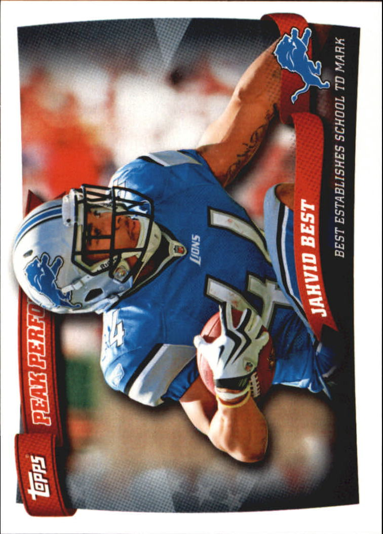 2010 Topps Peak Performance #PP36 Jahvid Best