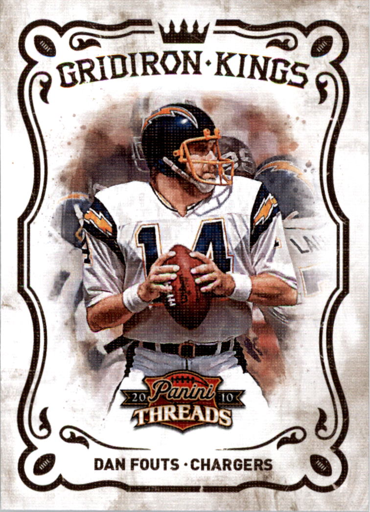 2010 Panini Threads Gridiron Kings #10 Dan Fouts