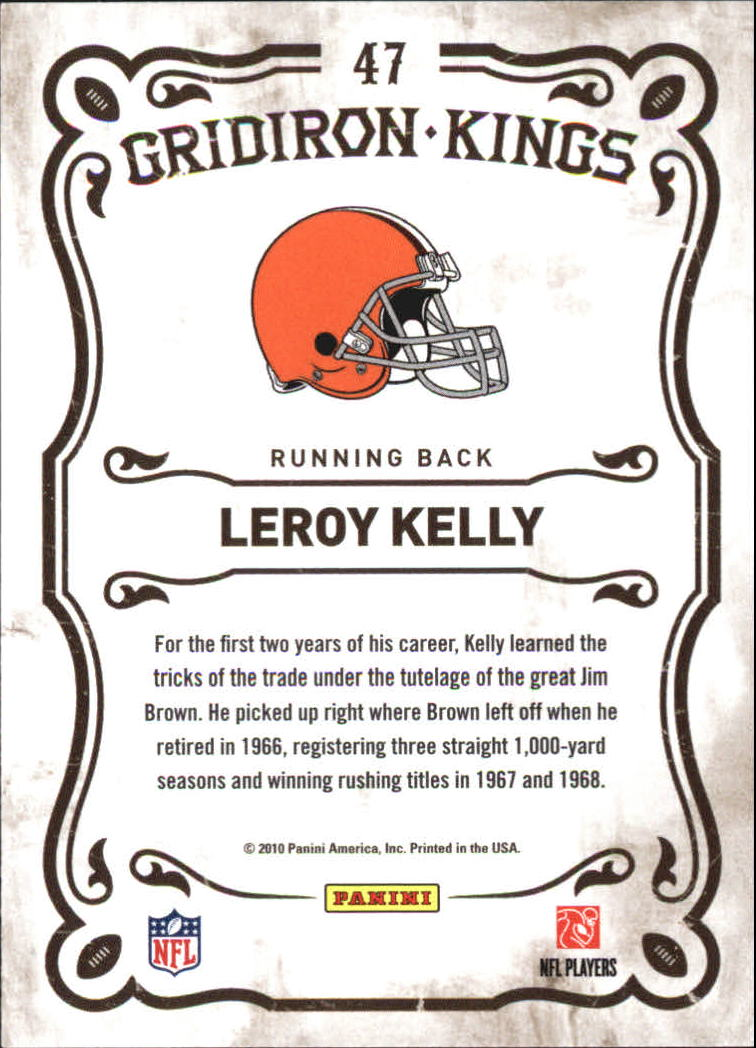 2010 Panini Threads Gridiron Kings #47 Leroy Kelly back image