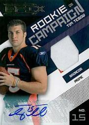 2010 Epix Rookie Campaign Materials Prime Signatures #16 Tim Tebow