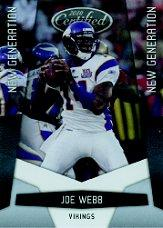 2010 Certified #224 Joe Webb RC