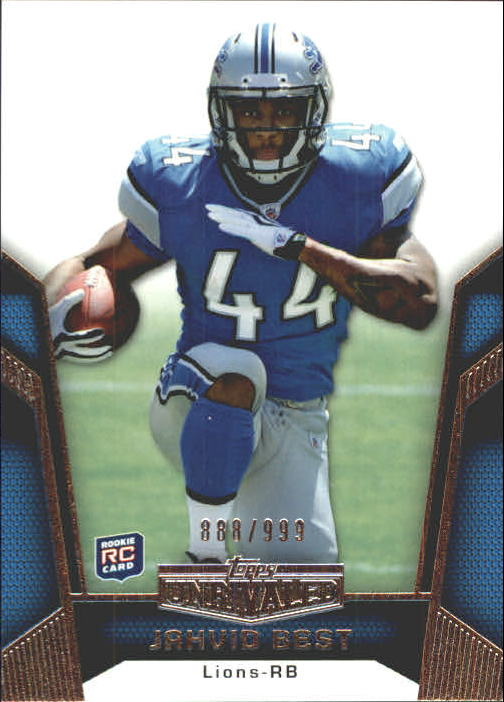 2010 Topps Unrivaled #124 Jahvid Best RC