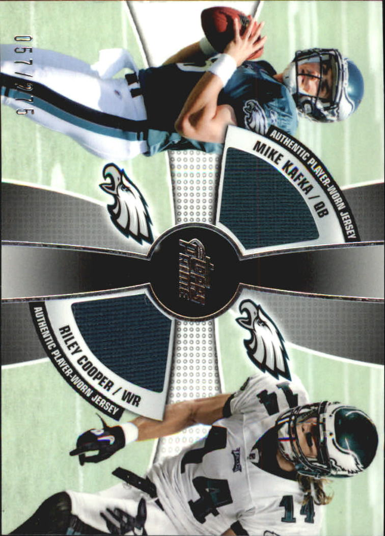 2010 Topps Prime 2nd Quarter Relics #KC Mike Kafka/275/Riley Cooper