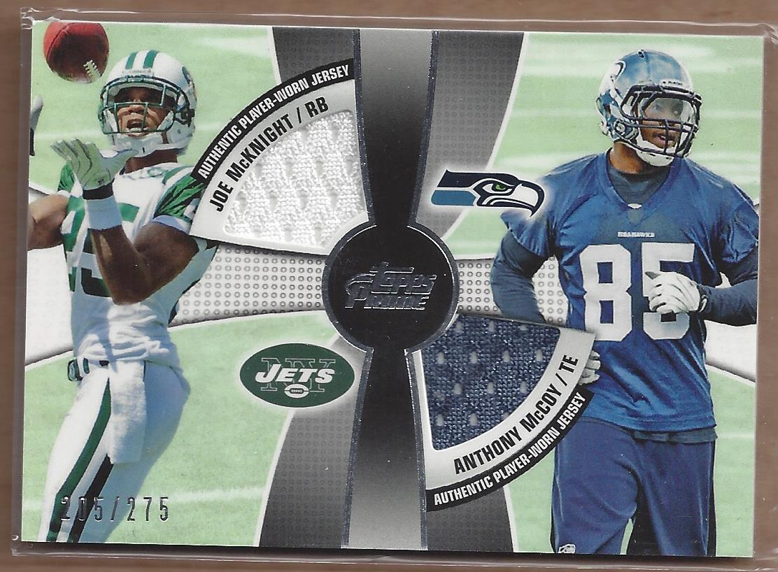 2010 Topps Prime 2nd Quarter Relics #MM Joe McKnight/275/Anthony McCoy