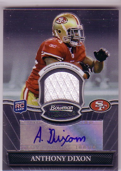 2010 Bowman Sterling #BSARAD Anthony Dixon JSY AU D