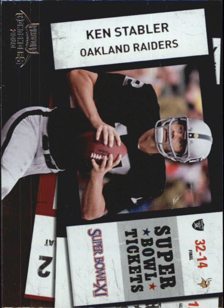 2010 Playoff Contenders Super Bowl Ticket #27 Ken Stabler