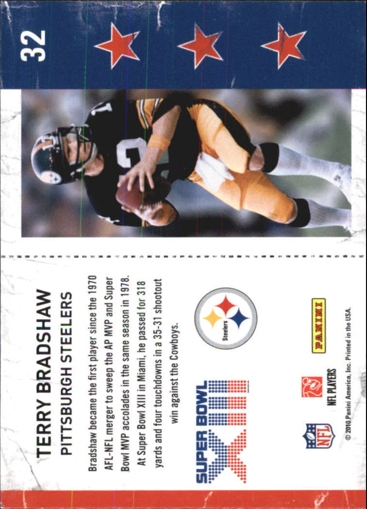 2010 Playoff Contenders Super Bowl Ticket #32 Terry Bradshaw back image