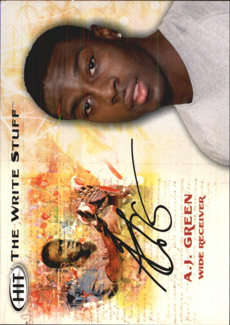 2011 SAGE HIT Write Stuff #WS4 A.J. Green