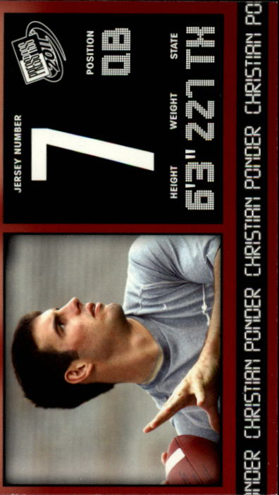 2011 Press Pass #14 Christian Ponder