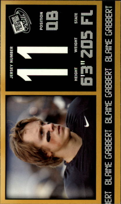 2011 Press Pass #20 Blaine Gabbert