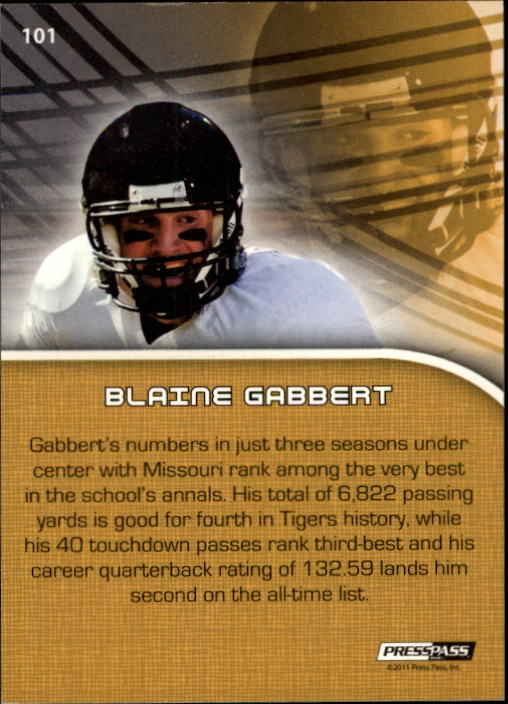2011 Press Pass #101 Blaine Gabbert PP