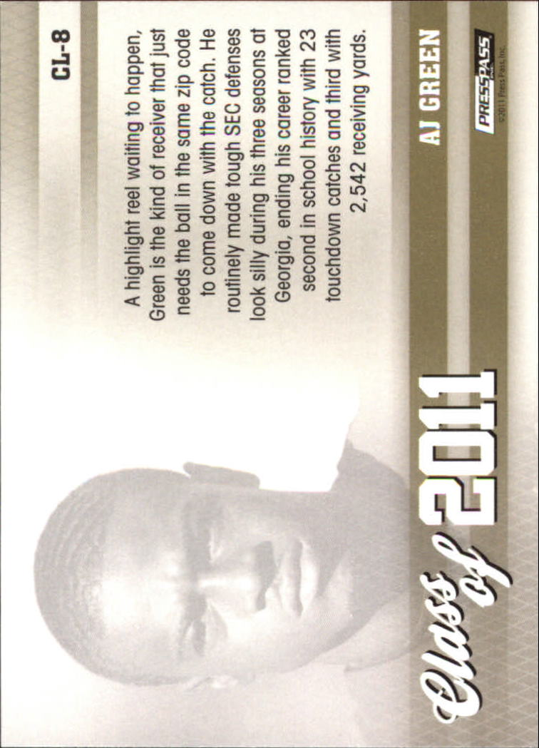 2011 Press Pass Class of 2011 #CL8 A.J. Green