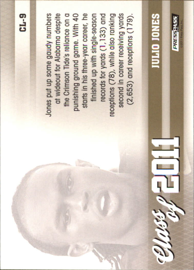 2011 Press Pass Class of 2011 #CL9 Julio Jones