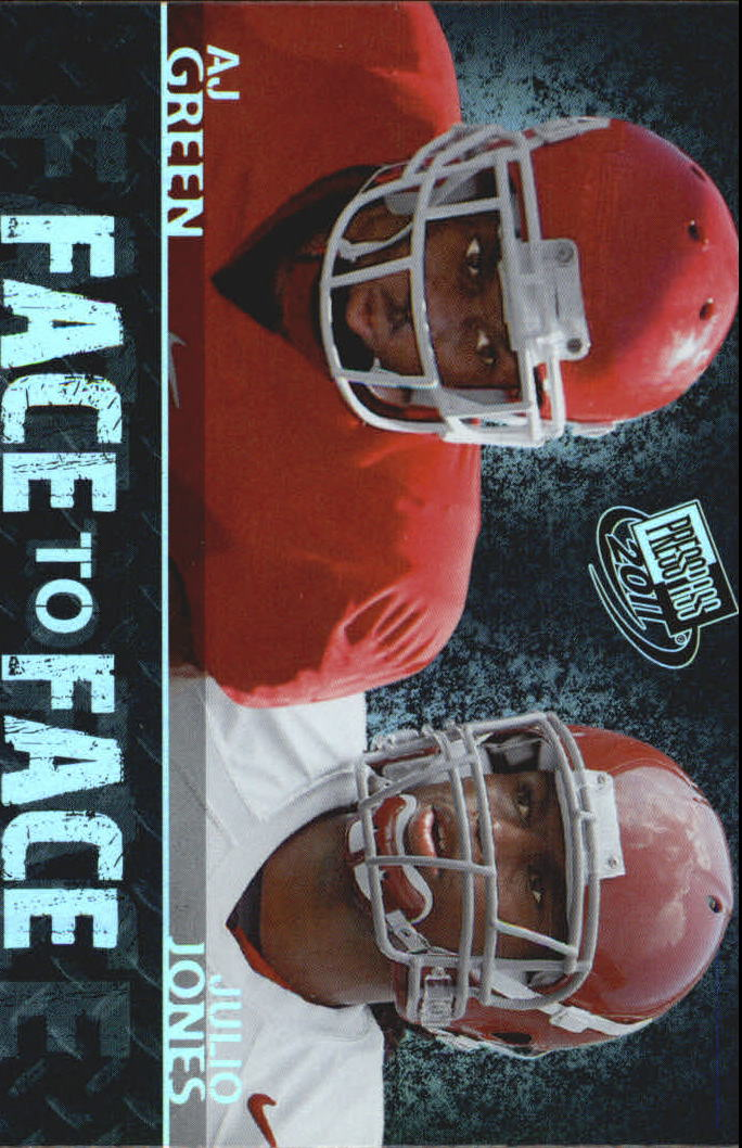 2011 Press Pass Face to Face #FF2 A.J. Green/Julio Jones