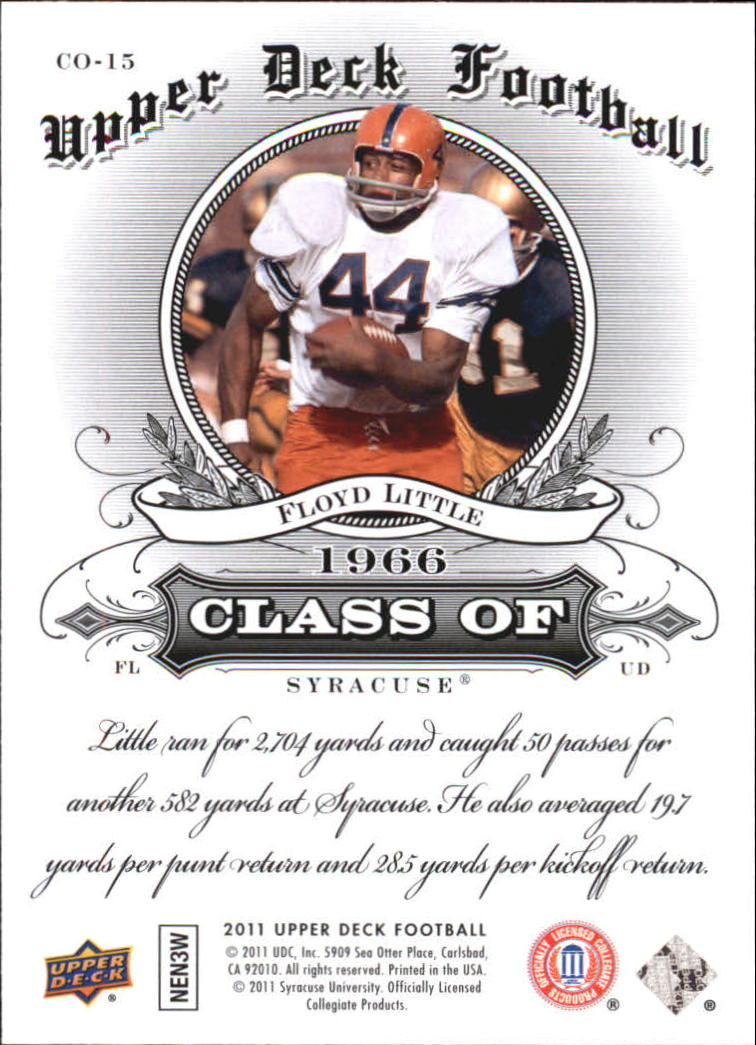 2011 Upper Deck Class Of #CO15 Floyd Little back image