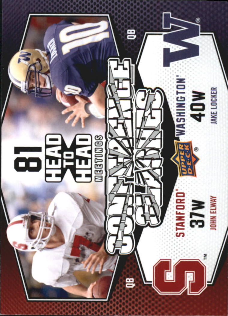 2011 Upper Deck Conference Clashes #CC11 Jake Locker/John Elway