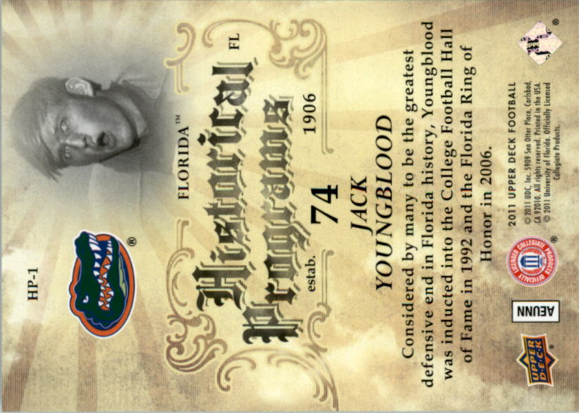 2011 Upper Deck Historical Programs #HP1 Jack Youngblood back image