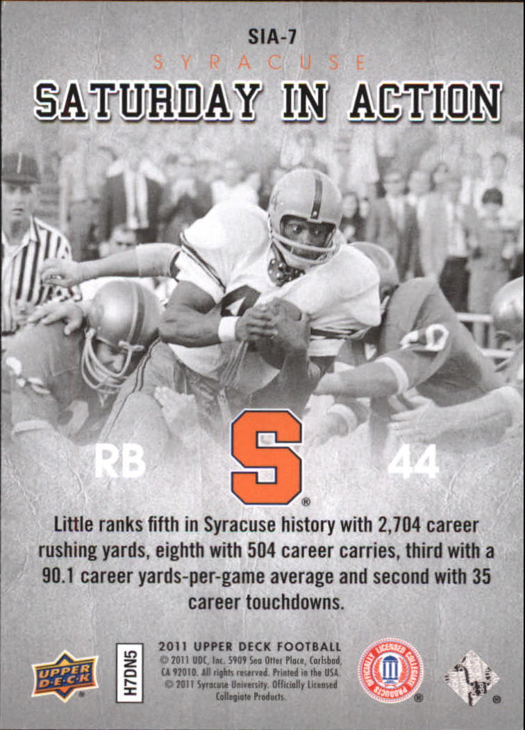 2011 Upper Deck Saturday in Action #SIA7 Floyd Little back image